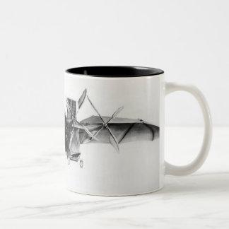 Avion III, 'The Bat' Two-Tone Coffee Mug