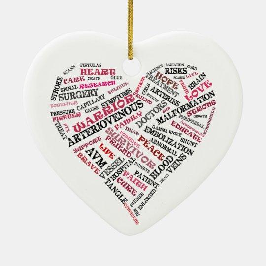 AVM Awareness Heart Ornament
