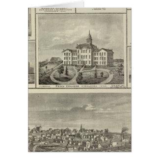 Avoca Penn College, Oskaloosa buildings in Dexter Card