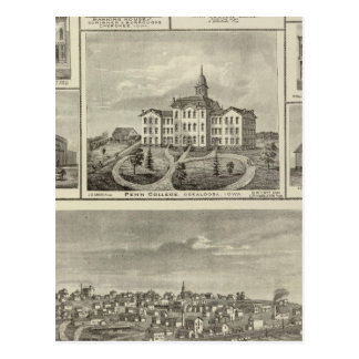 Avoca Penn College, Oskaloosa buildings in Dexter Postcard
