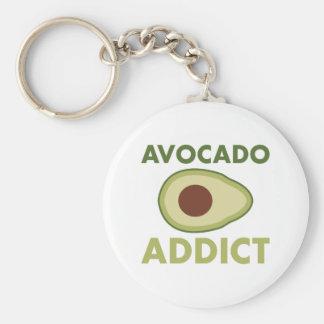 Avocado Addict Basic Round Button Key Ring