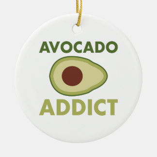 Avocado Addict Christmas Ornament