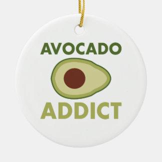 Avocado Addict Round Ceramic Decoration