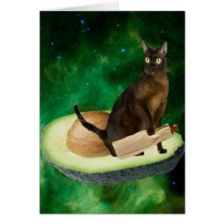 avocado cat card