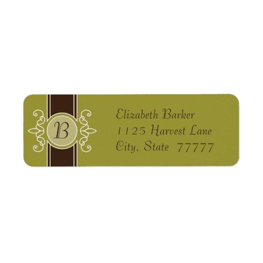 Avocado Classic Harvest Return Address Labels