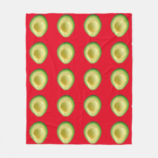 Avocado Fiesta Red 4Merced Fleece Blanket