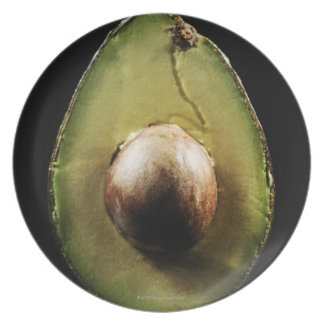 Avocado,Fruit,Black background Plate