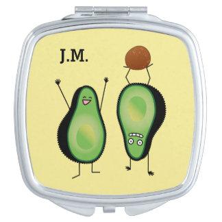 Avocado funny cheering handstand green pit vanity mirror
