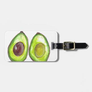 Avocado green fruit luggage tag