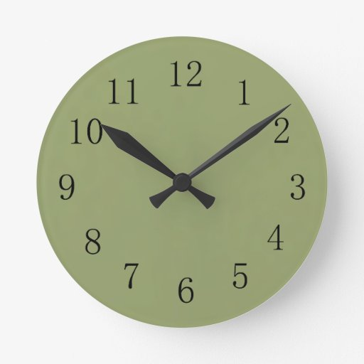 Avocado Green Wall Clock