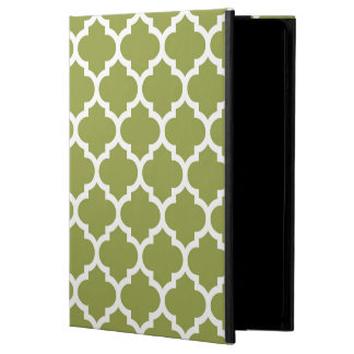 Avocado Green White Moroccan Quatrefoil Pattern #5 Case For iPad Air