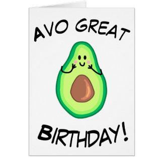 Avocado Greetings Card