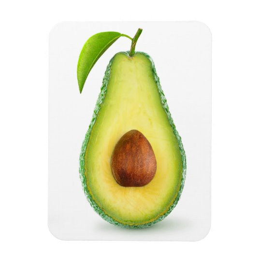Avocado half rectangular photo magnet