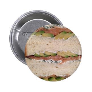 Avocado & Lox sandwich 6 Cm Round Badge