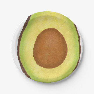 Avocado Paper Plate! 7 Inch Paper Plate