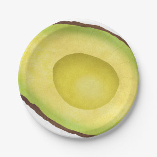 Avocado Paper Plate! No seed 7 Inch Paper Plate
