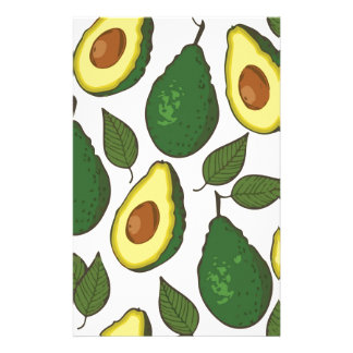 Avocado pattern custom stationery
