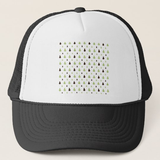 Avocado Pattern Trucker Hat