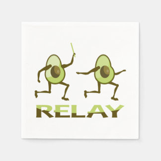 Avocado Relay Race Disposable Serviette