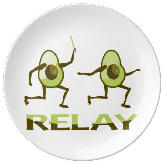Avocado Relay Runners Plate