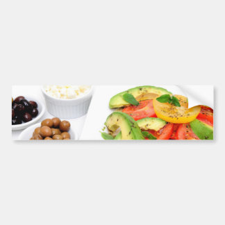 Avocado Salad And Olives Bumper Sticker