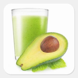 Avocado smoothie square sticker