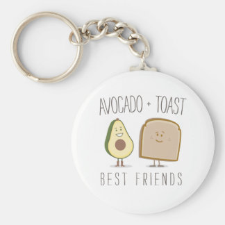 Avocado + Toast Best Friends Funny Keychain