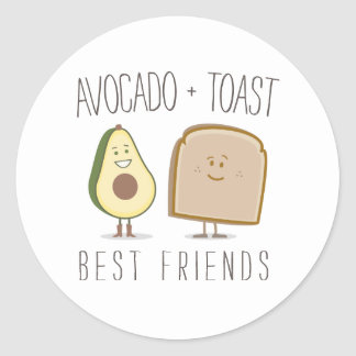 Avocado + Toast Best Friends Sticker