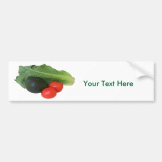 Avocado Tomatoes Romaine Hearts white background Bumper Sticker