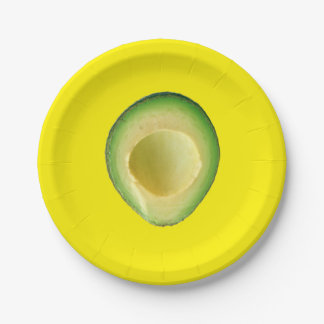 Avocado Yellow Fiesta Para Louisa Paper Plate