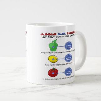 Avoid GM foods avoid 5 digit PLU starting with 8 Jumbo Mug