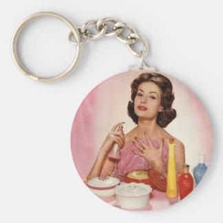 Avon Basic Round Button Key Ring