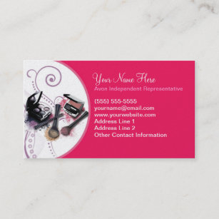 Avon business cards zazzle uk avon business card reheart Images