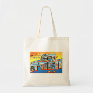 Avon by the Sea New Jersey NJ Vintage Postcard - Budget Tote Bag