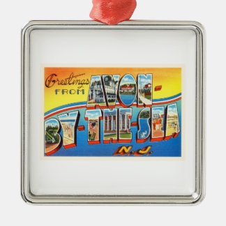 Avon by the Sea New Jersey NJ Vintage Postcard - Christmas Ornament