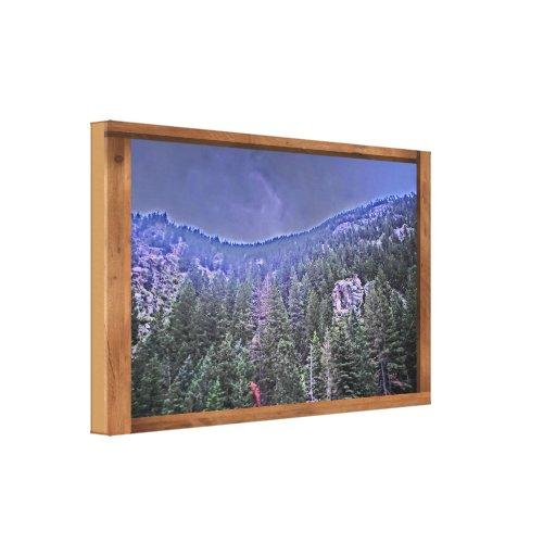 Avon Colorado mountain scenery canvas art Canvas Print
