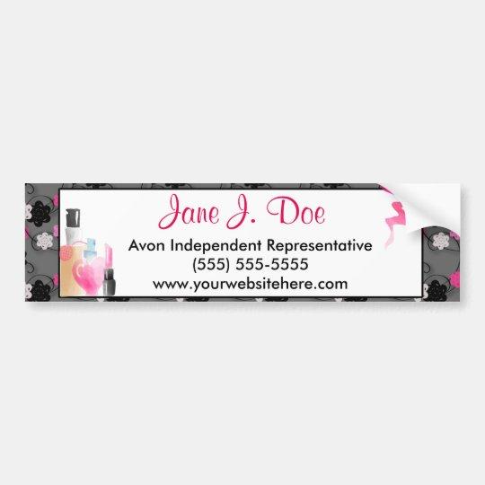 Avon Floral Makeup Bumper Sticker