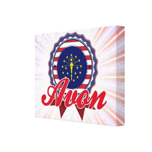 Avon, IN Stretched Canvas Print