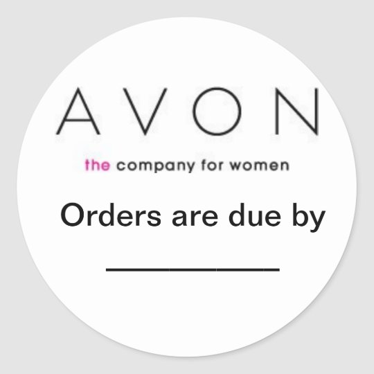 Avon Order due labels Round Sticker