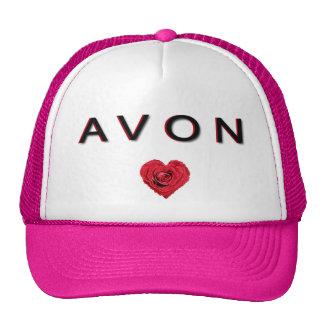 AVON pink and white base ball cap. Cap