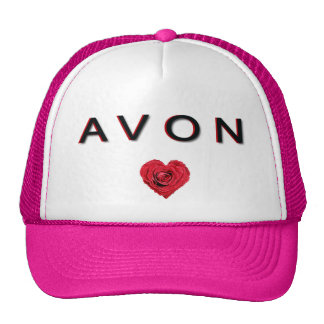 AVON pink and white base ball cap. Hats