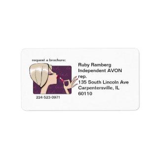 Avon Representative Mail labels