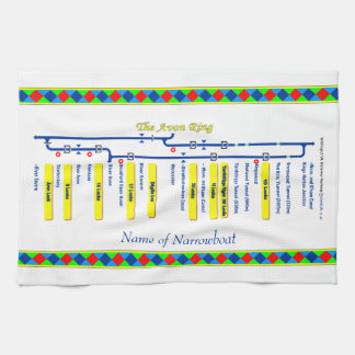 Avon Ring Canal Route UK Waterways Yellow Hand Towels