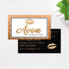 Avon Rose Gold Beauty Lips Business Card