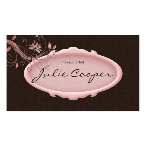 Avon Salon Business Card Spa Floral Pink