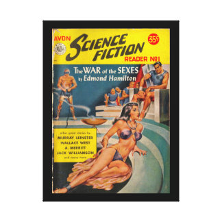Avon Science Fiction Reader 01 (1951.Avon)_Pulp Ar Gallery Wrap Canvas