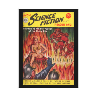 Avon Science Fiction Reader 02 (1951.Avon)_Pulp Ar Canvas Prints