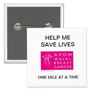 avon-walk-against-breast-cancer 15 cm square badge