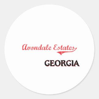 Avondale Estates Georgia City Classic Round Stickers