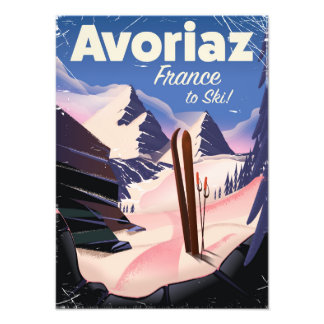 Avoriaz, French Ski travel poster